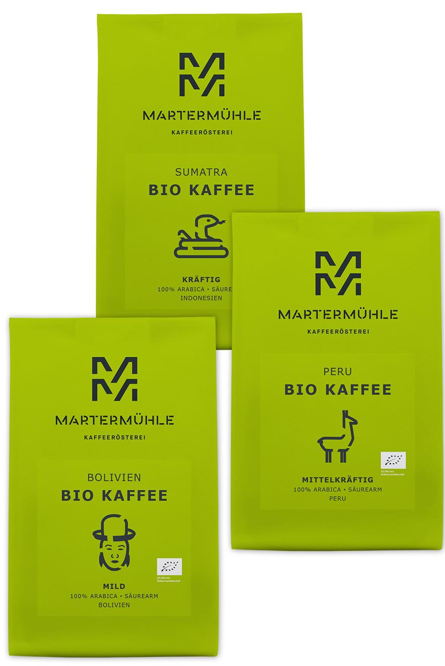 406ec030af BIO Kaffee Probierpaket kaufen | Kaffeerösterei Martermühle