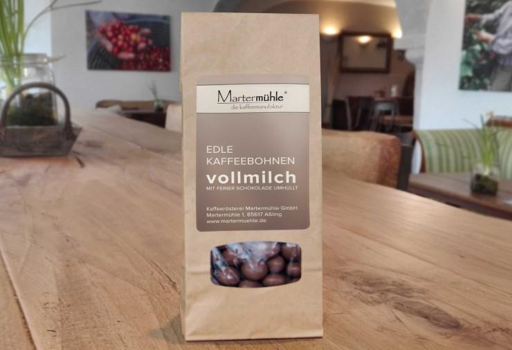 Dragierte Kaffeebohnen Vollmilch