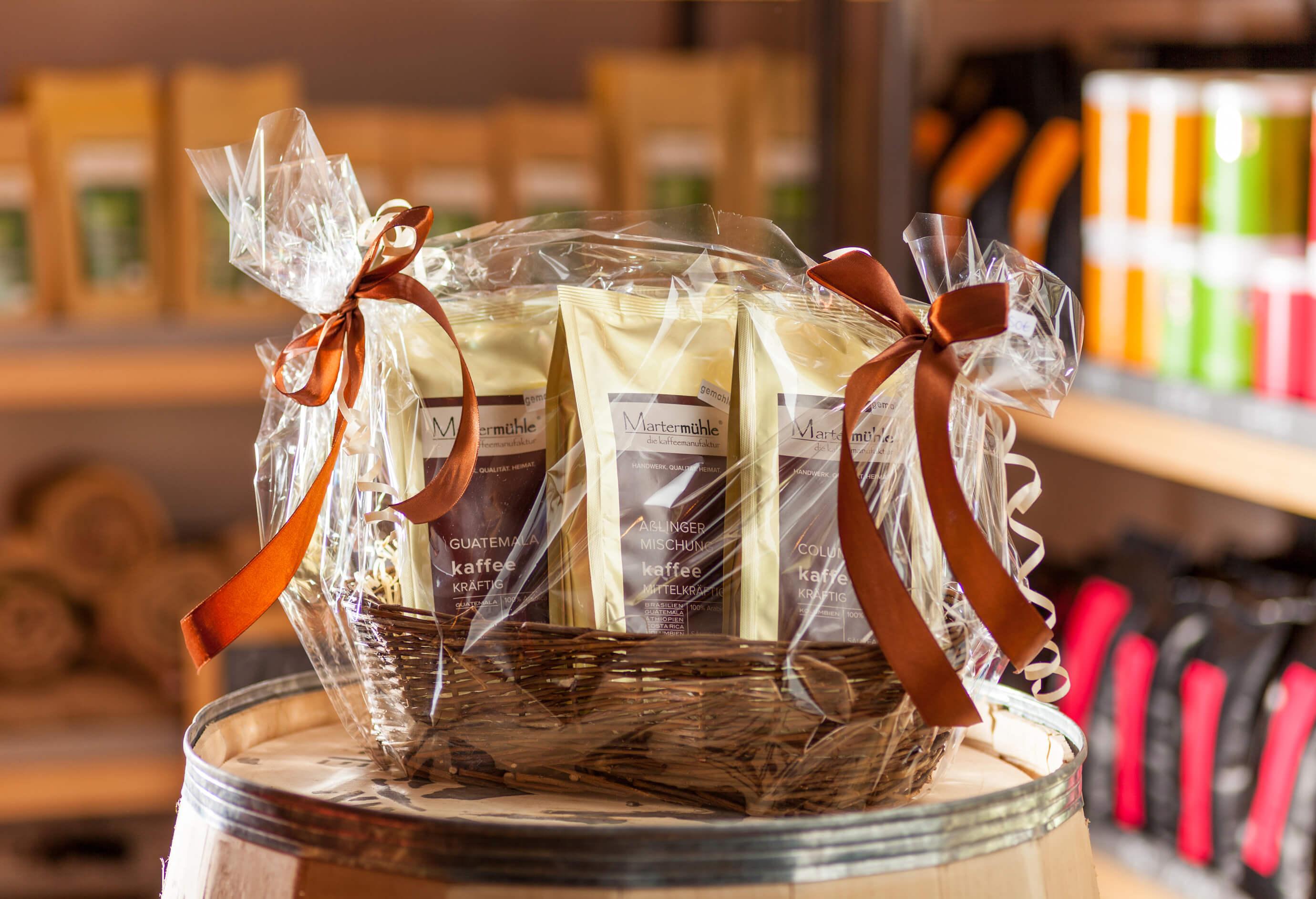 geschenkset probierpaket kaffee kaffeer sterei marterm hle. Black Bedroom Furniture Sets. Home Design Ideas