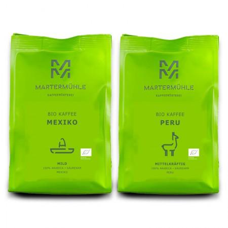 Bio Kaffee Paket 1kg Bio Peru + 1kg Bio Mexiko zum Vorteilspreis - Versandkostenfrei 1000g / Ganze Bohne <br>(70/428)