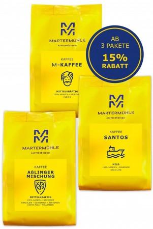 Büro/Gastro Kaffee Probierpaket 3x1000g