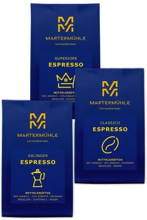 Espresso Probierpaket 3x250g
