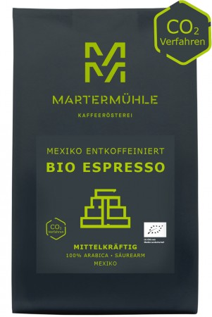BIO Espresso Mexiko entkoffeiniert