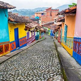 Strasse in Kolumbien