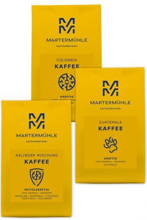 Kaffee Probierpaket 3x250g