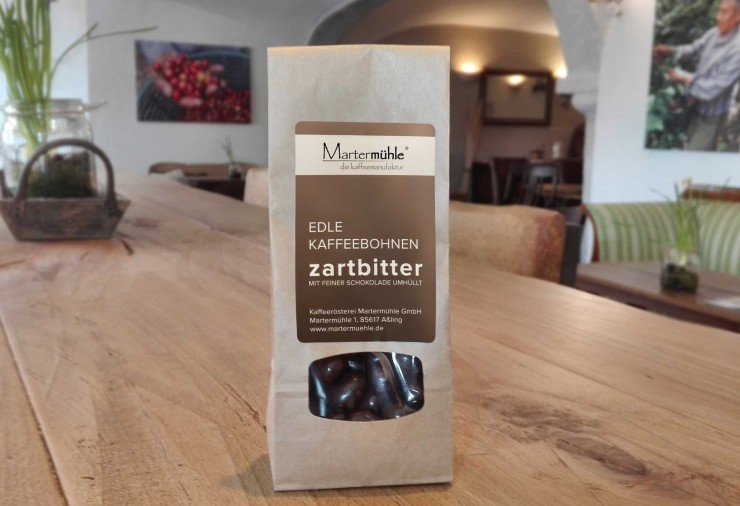 Dragierte Kaffeebohnen Zartbitter