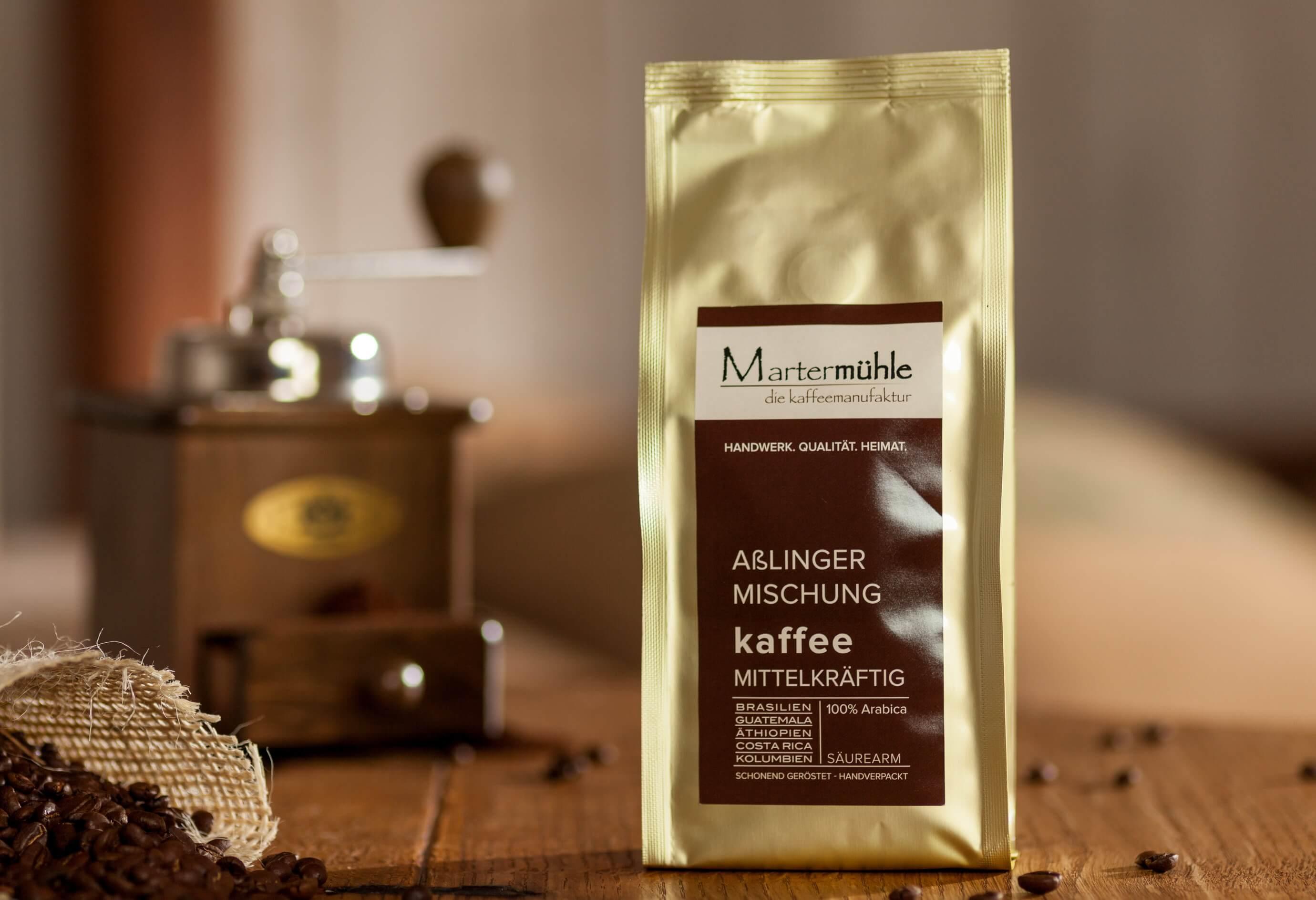 kaffee a linger mischung kaufen kaffeer sterei marterm hle. Black Bedroom Furniture Sets. Home Design Ideas