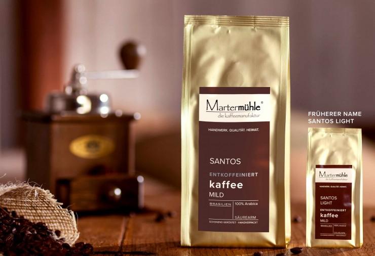 Kaffee Santos entkoffeiniert