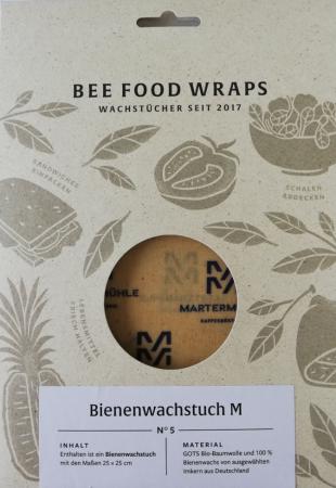 Nachhaltiges Martermühle Bienenwachstuch