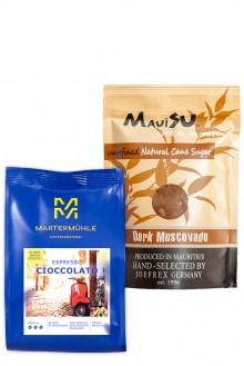 Due Amici: Espresso Cioccolato + Dark Muscovado Zucker