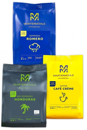 Für den Vollautomaten – 3x250g Kaffee/Espresso