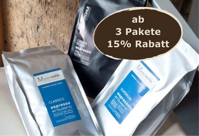 Büro/Gastro Espresso Probierpaket 3x1000g